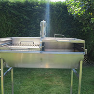 Solid Base 'Griddle' for Barrel Barbecue 2
