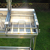 Kebab Rack for Barrel Barbecue 1
