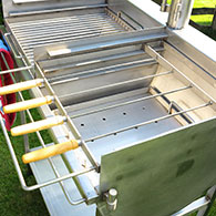 Kebab Rack for Barrel Barbecue 2
