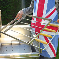 Kebab Rack for Barrel Barbecue 4