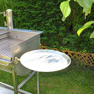 Shallow Tray for Barrel Barbecue 1 - Can be used instead of 'Side Trays' 2