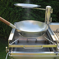 Wok Ring to simply hold a wok for the Barrel Barbecue 1