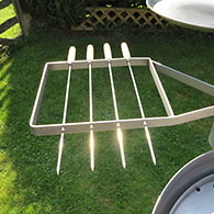 Swivelling Kebab Rack for the Ikon Barbecue 1