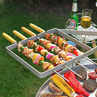 Swivelling Kebab Rack for the Ikon Barbecue 3
